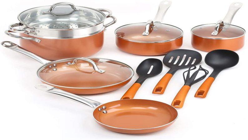 Nonstick Ceramic Copper Cookware Set