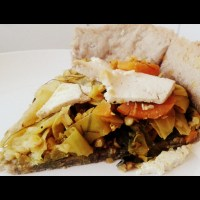 Yummy Curry-Tofu-Kohl Quiche *vegan