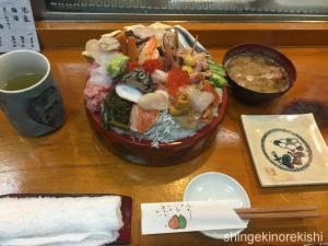 武蔵野市国立幸寿司(こうずし)びっくり丼大盛り12