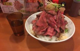 上野鳥園(とりえん)ローストビーフ丼富士山9