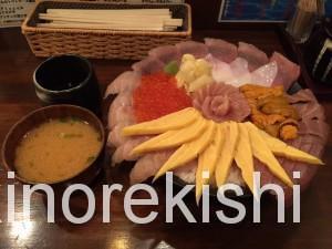 神田メガ盛り海鮮丼まぐろ亭超贅沢丼大盛り9