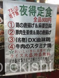 雁川がんせん秋葉原中華料理デカ盛り豚肉生姜焼きチャーハントリプル盛つけ麺どっかん盛8