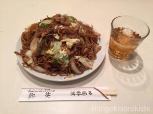 品川区五反田デカ盛り中華料理梅林めいりん肉ソース焼きそば大盛り10