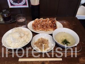 京急川崎大森ランチ渋谷餃子W定食薄皮スープライスおかわり自由無料安い飲みビール大皿美味しい2