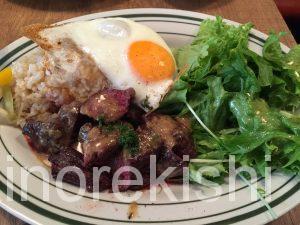 神田土日ランチ熟成肉レストランBrookKitchenブルックキッチンディナー牛ハラミスタミナプレート大盛り豚肩ロース9