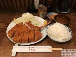 骨付きとんかつ富士㐂ふじき人形町デカ盛り定食メニューご飯大盛り水天宮前巨大進撃のグルメ