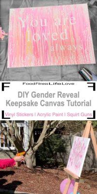 Easy DIY Gender Reveal Keepsake Canvas Tutorial - FFLL