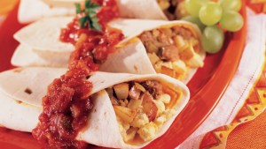 Scrambled Egg and Bacon Burritos-foodflag
