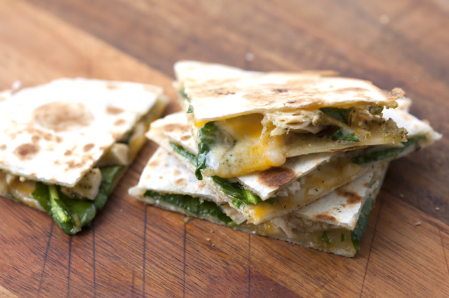 pesto-chicken-quesadilla