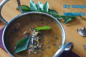 Dry Mango Kuzhambu Recipe
