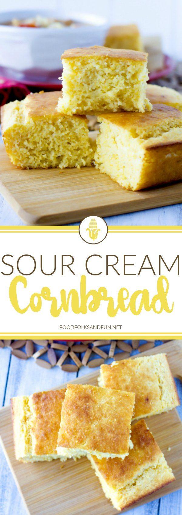 Picture collage of cornbread.