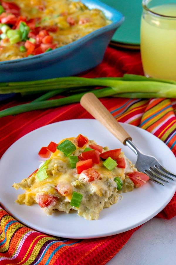 New Mexico Style Green Chile Chicken Enchiladas