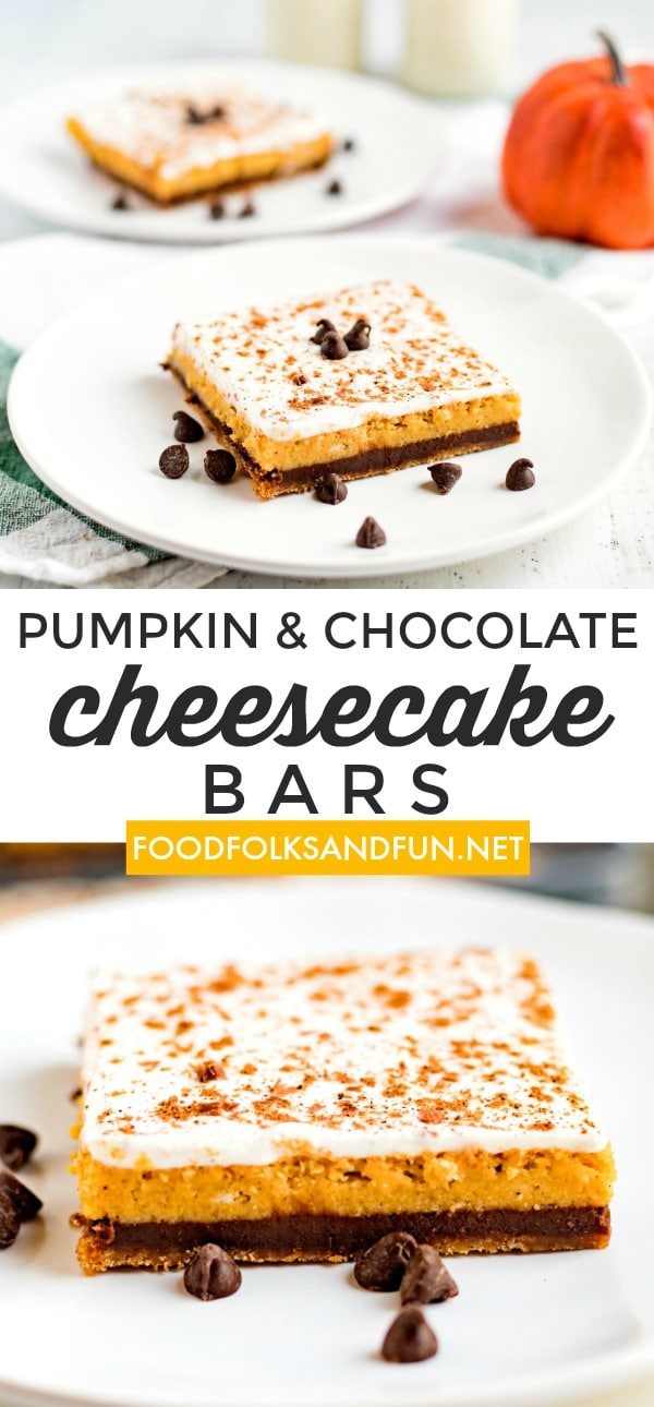 Picture collage of cheesecake bars for Pinterest.