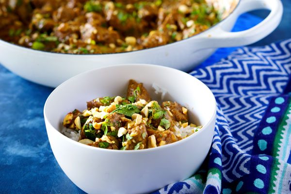Easy Chicken in Spicy Thai Peanut Sauce recipe