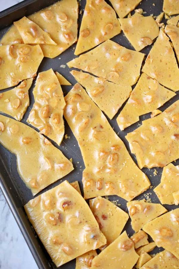Delicious and easy peanut brittle.