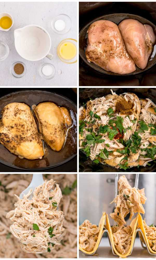 How to make Crockpot Shredded Chicken Tacos