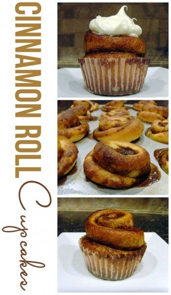 These Cinnamon Roll Cupcakes are perfect for breakfast or brunch. These would also be great for birthday mornings!