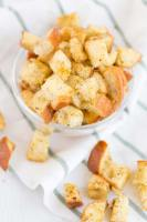 Versatile homemade croutons recipe.