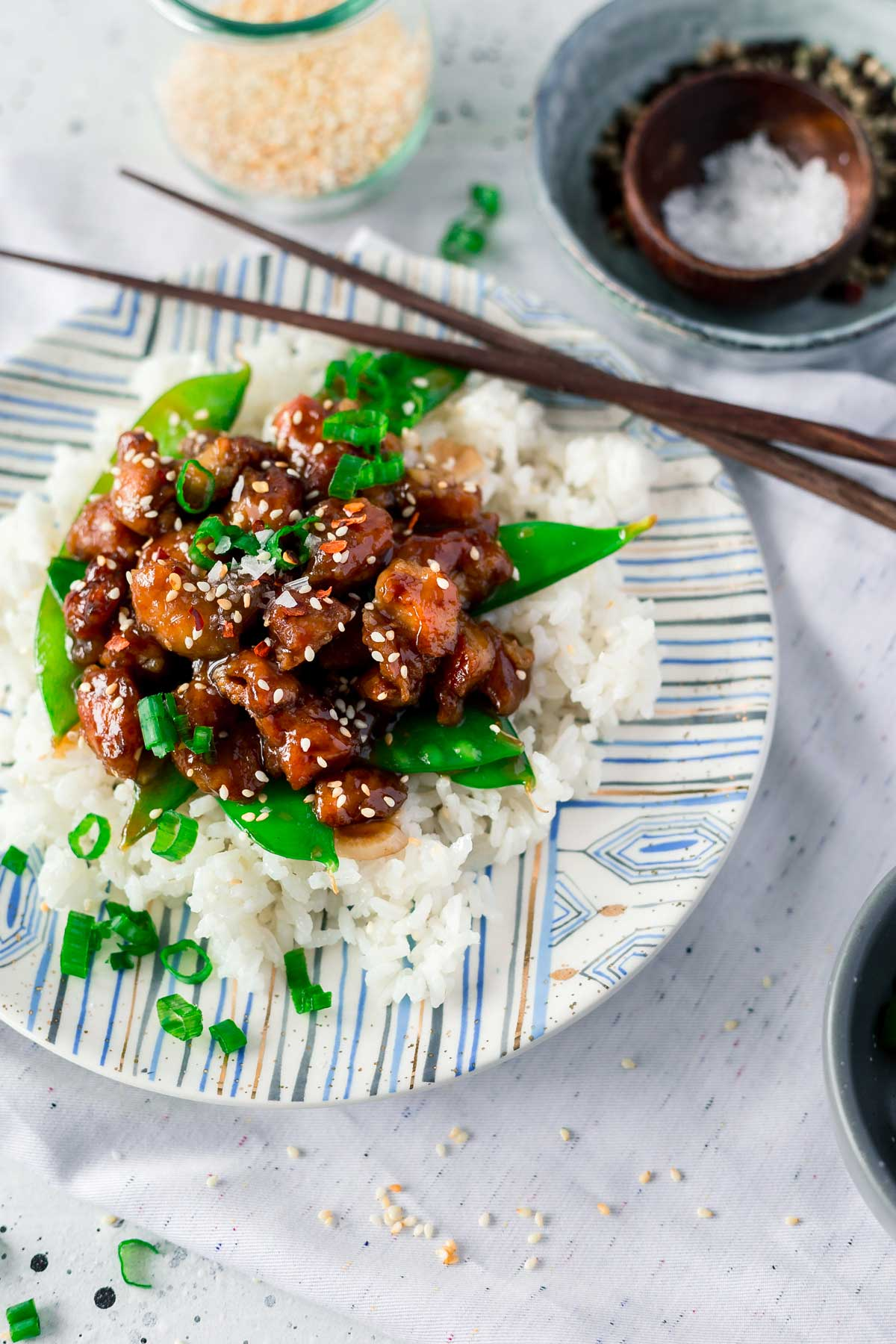 The best General Tso Chicken recipe made in just 30 minutes.