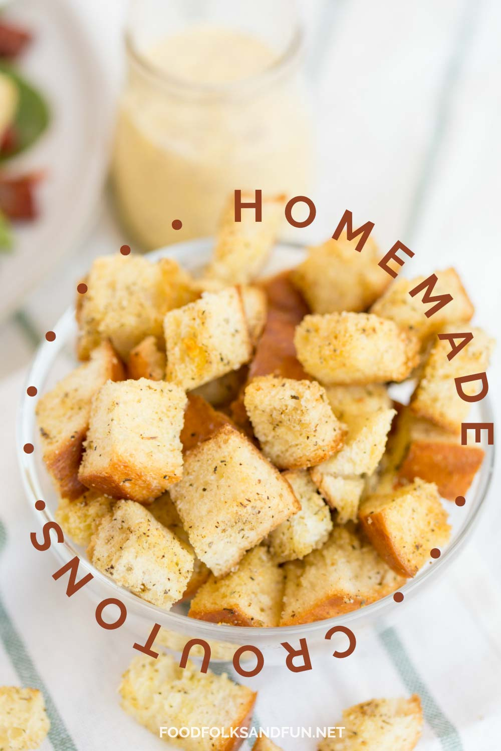 The absolute best homemade croutons recipe.