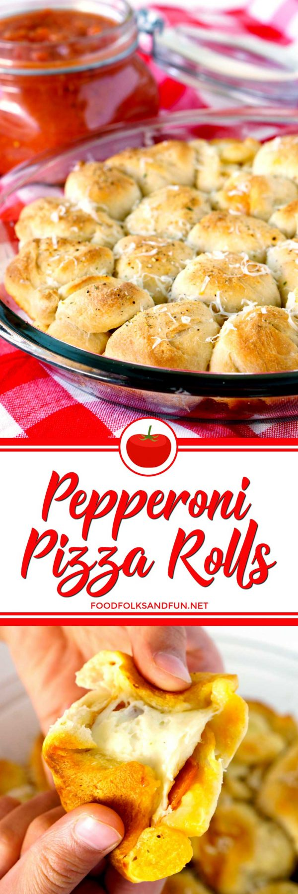 Pepperoni Pizza Rolls made in just 30 minutes.