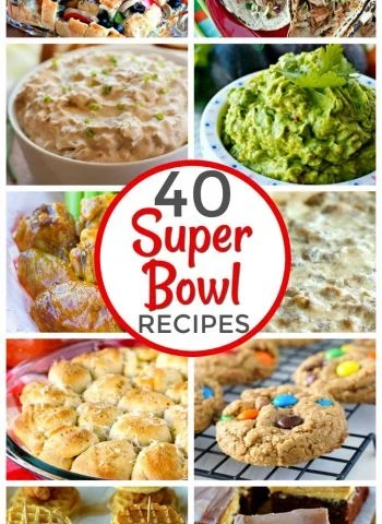 Superbowl food ideas for the big game.