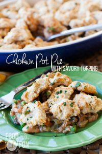Chicken Pot Pie with Savory Crumble Topping