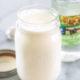 Buttermilk substitute in a mason jar