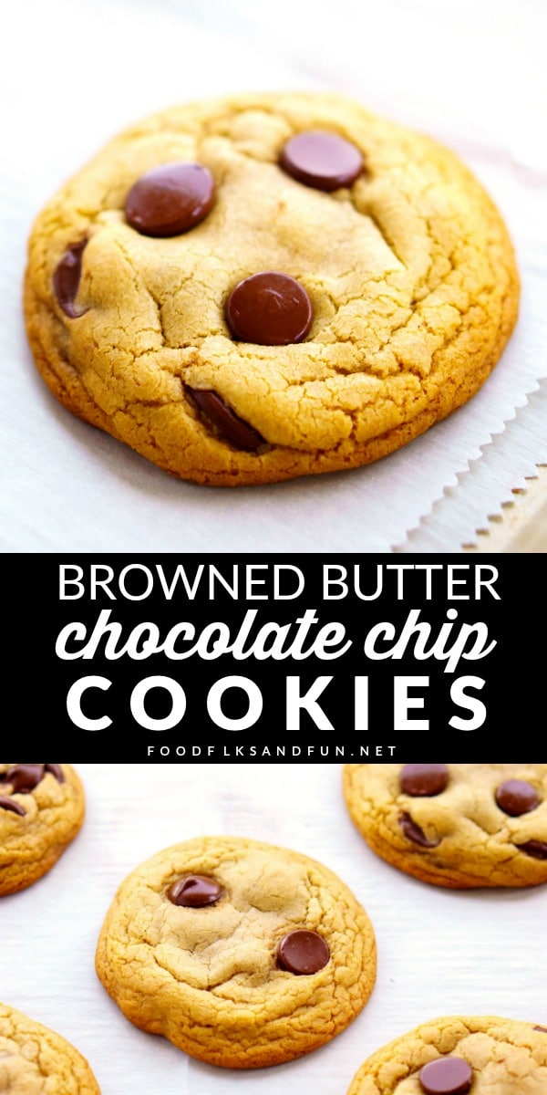 Picture collage of Perfect Chocolate Chip Cookies for Pinterest.