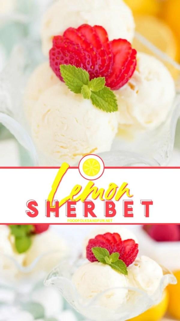 Wicked easy Lemon Sherbet