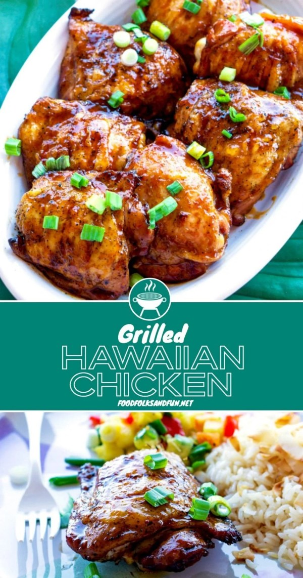 Delicious Grilled Hawaiian Chicken with Pineapple Barbecue Sauce