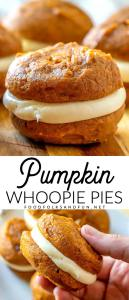 Pumpkin Whoopie Pies collage for Pinterest.