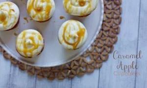 Caramel Apple Cupcakes on a plate