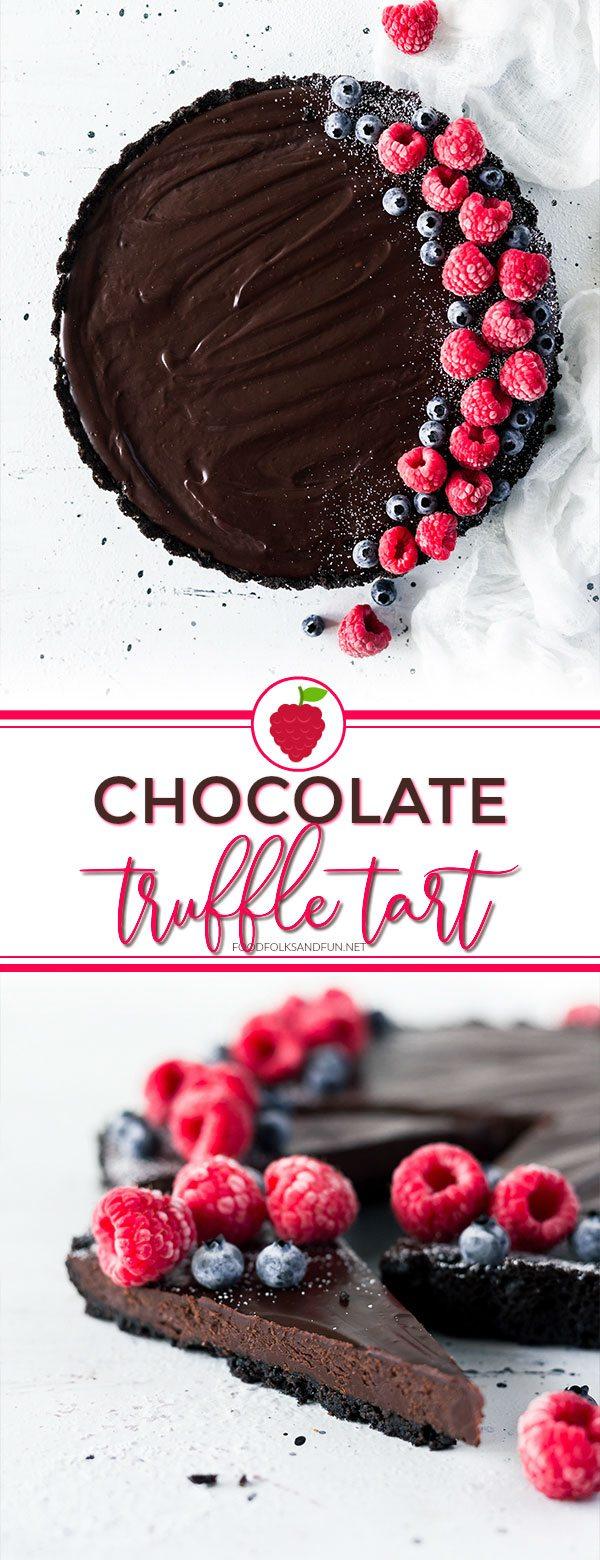 Easy Chocolate Truffle Tart
