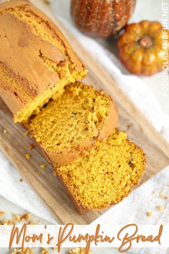 A Pumpkin Bread recipe that makes 2 loaves.