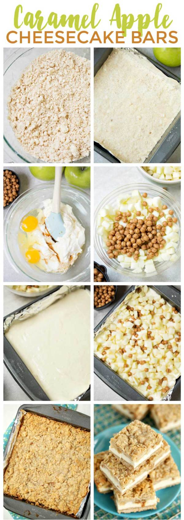 How to Make Caramel Apple Cheesecake Bars