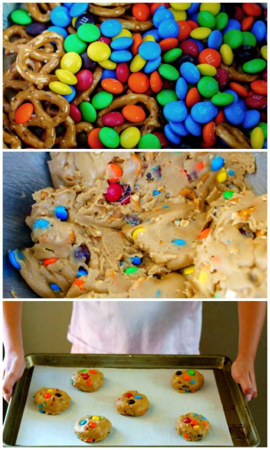 How to make Browned Butter and M&M Pretzel Cookies for Social media