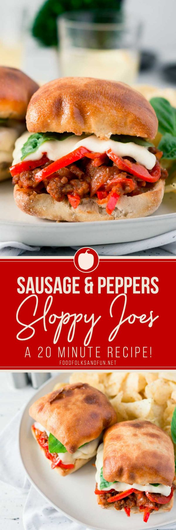 Quick and Easy Sausage and Peppers Sloppy Joes