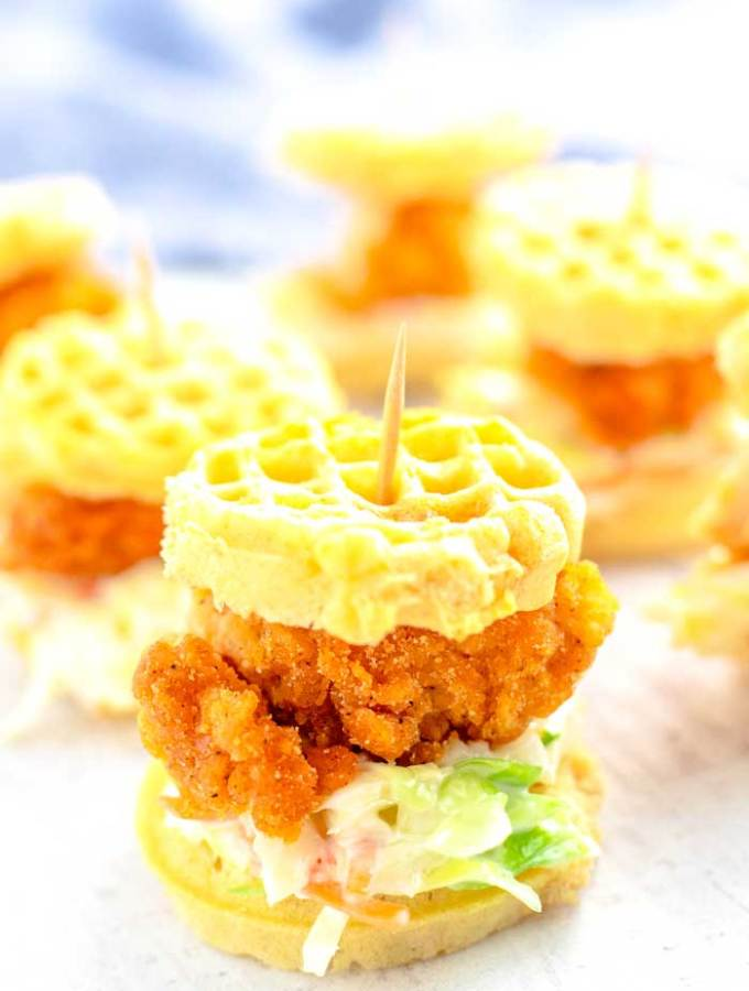 Golden Chicken and Waffle Sliders