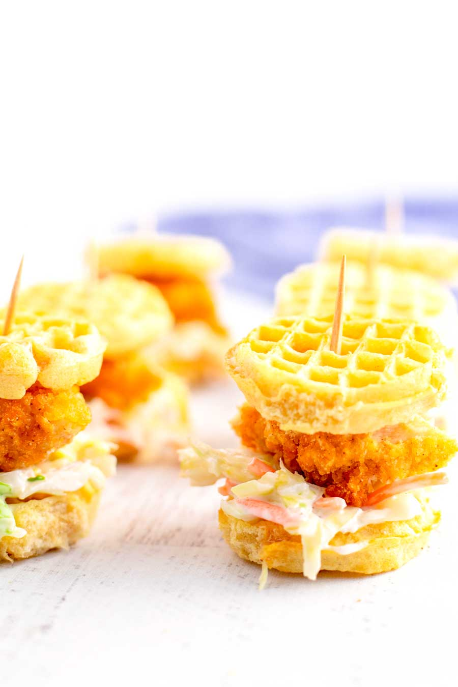 Chicken and Waffle Sliders with Coleslaw