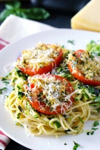 Quick and Easy Baked Tomatoes Parmesan