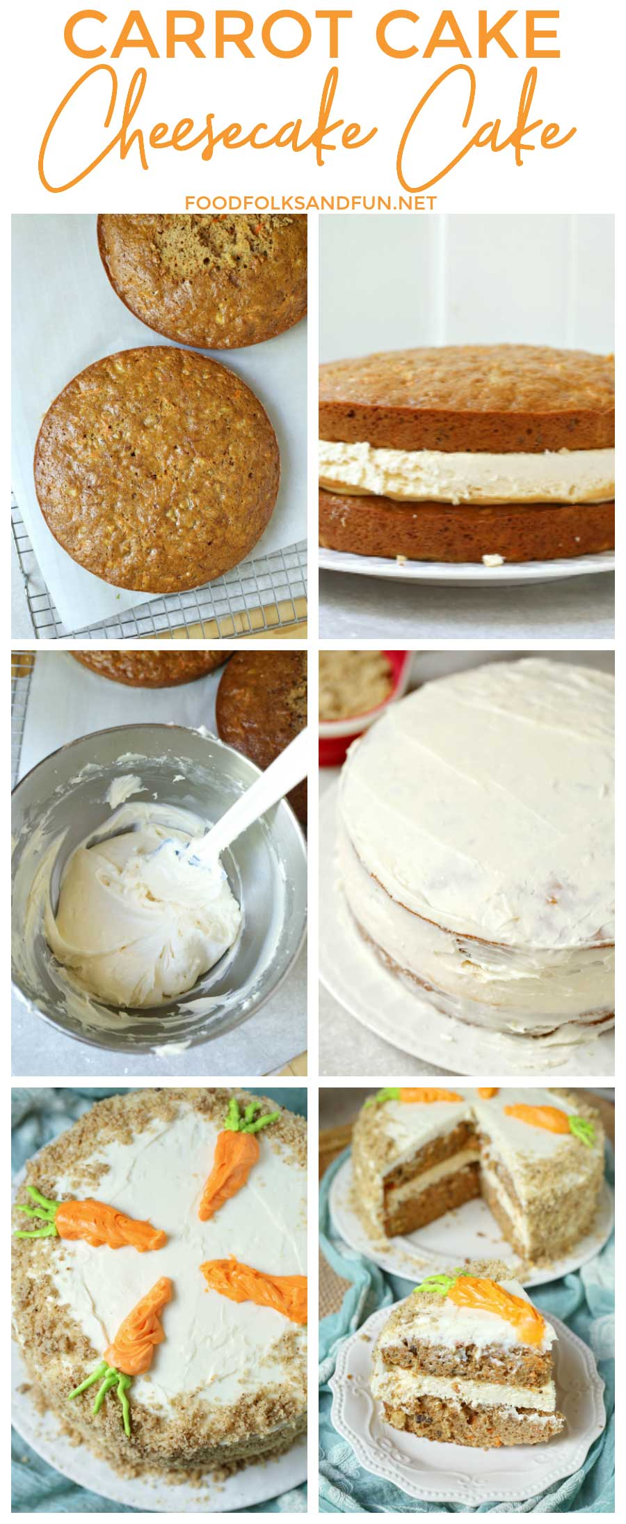 How to make Carrot Cake Cheesecake Cake with recipe video!