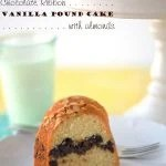 Here's a classic vanilla pound cake recipe that's dressed up with a ribbon of chocolate and almonds!