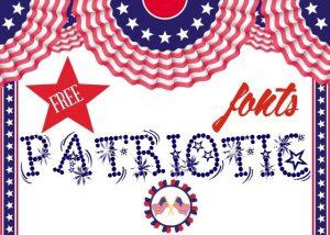Clip art for Free Patriotic fonts