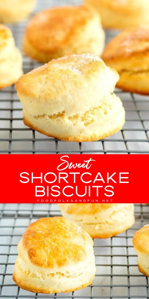 This shortcake biscuit recipe makes the perfect vessel for berry shortcake. The best part is they are made, start to finish, in just 20 minutes. via @foodfolksandfun