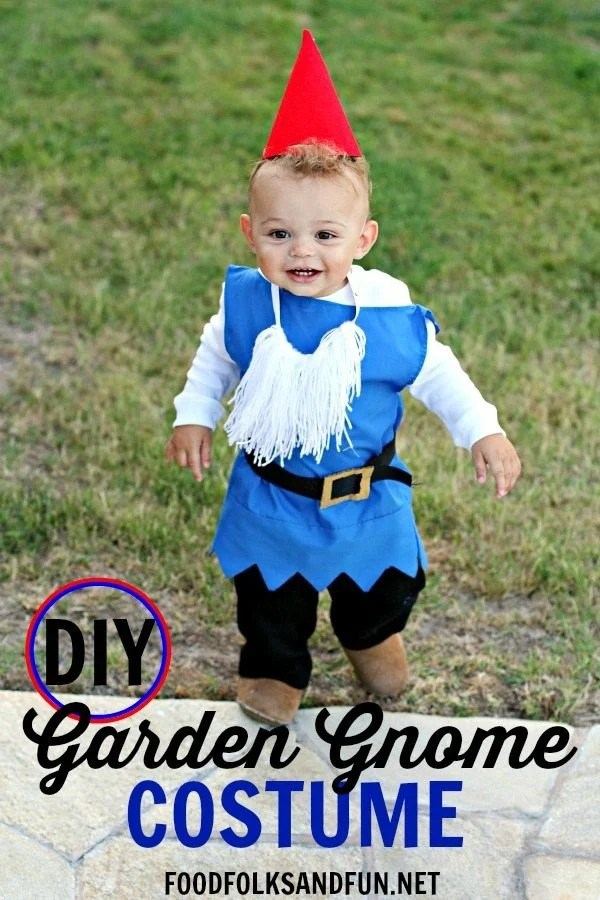 DIY Boy Garden Gnome Costume AND 80 DIY Costume Ideas! • Food