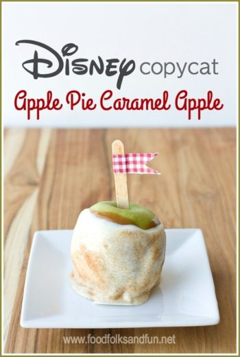 Disney Copycat Apple Pie Caramel Apples Recipe