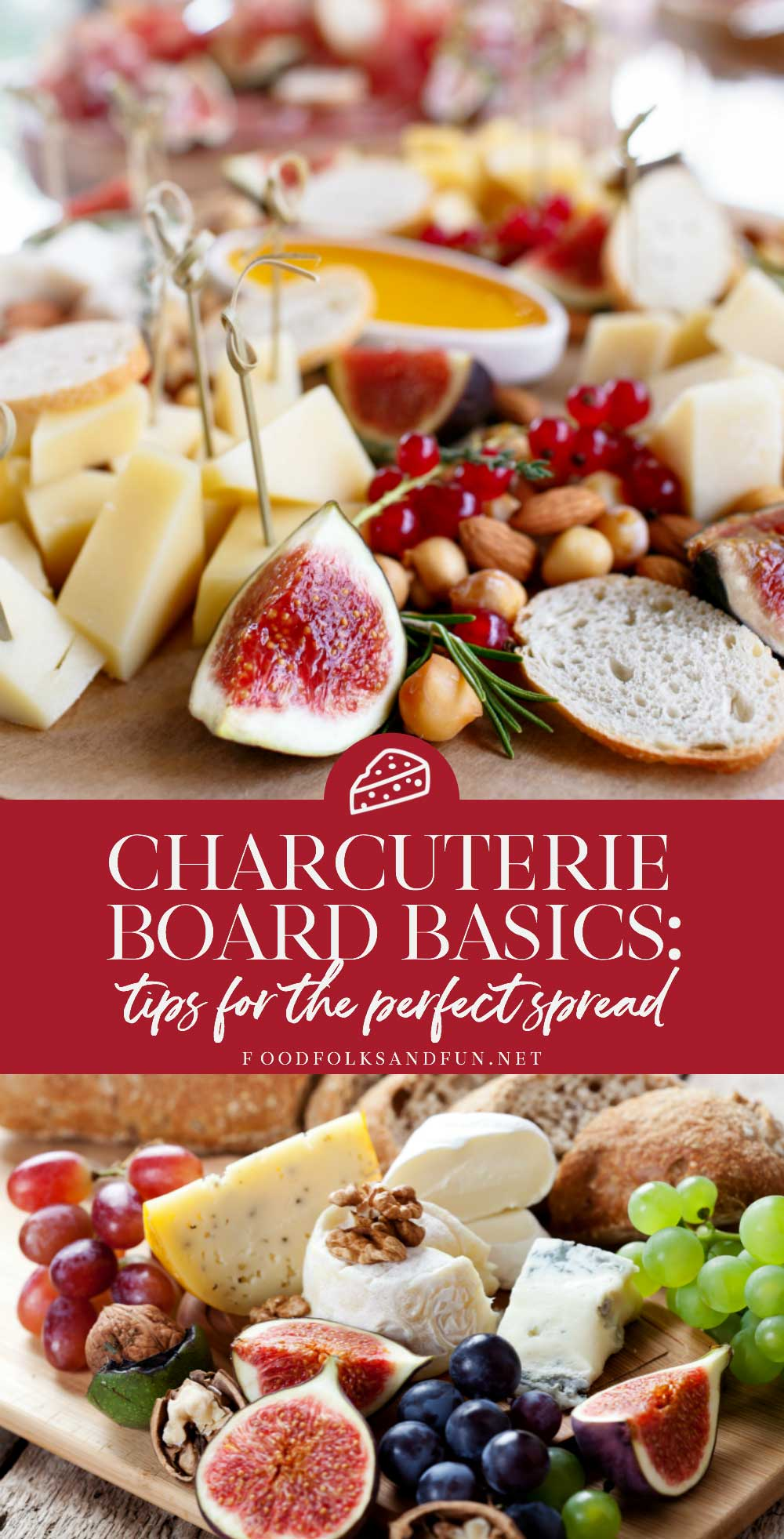 See how to make the best spread of fine imported cheese served with meat, fruit, nuts, bread, and crackers for Thanksgiving, Christmas, or any get together in this Charcuterie Board Basics: Tips for the Perfect Spread post.