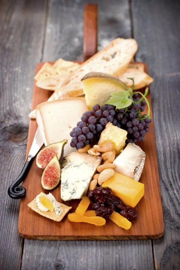 A beautiful Cheeseboard ready for serving.