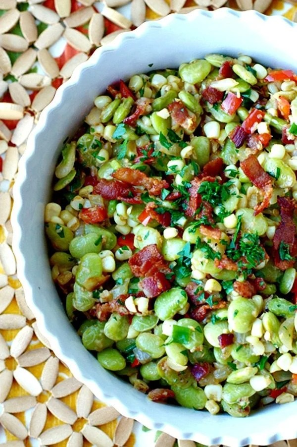 Succotash Recipe with Bacon and Scallions 1